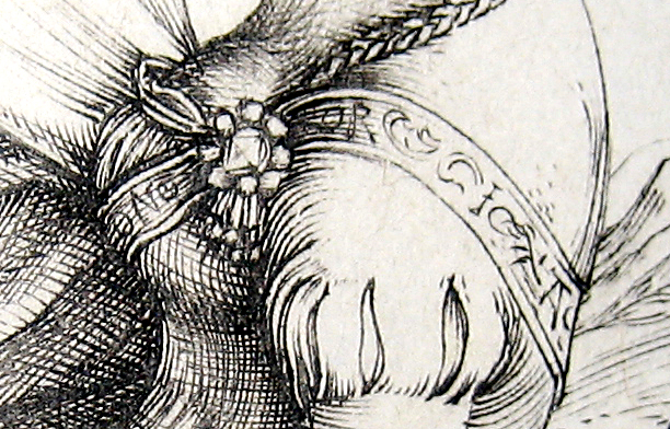 The Promenade neckline code in Durer's art